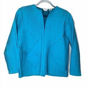 Laura Ashley medium Petite light blue aqua jacket